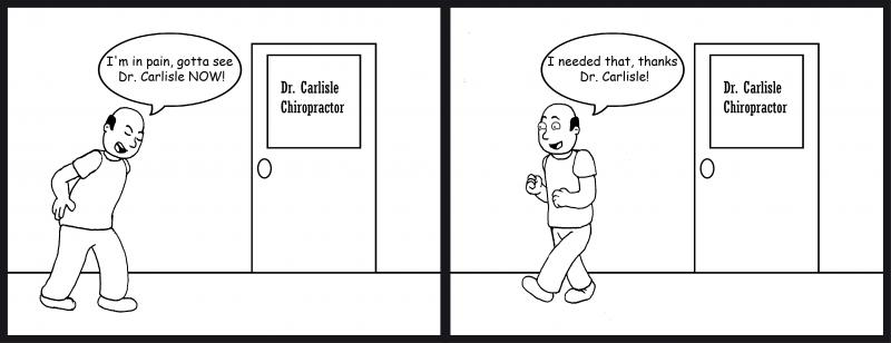 Chiropractic cartoon
